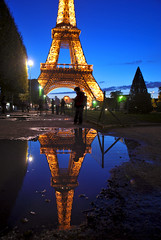 Reflections of Paris photo by Jeff Rose Photography