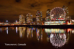 Vancouver Night Shot (Science World) photo by どこでもいっしょ