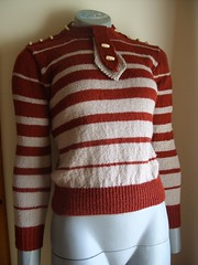 1934 Hockey Stripe Jumper With Tab - Front photo by Bunny's Emporium