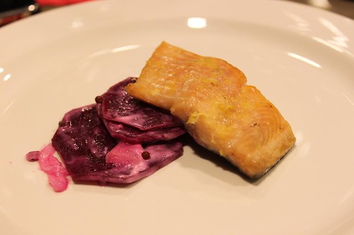 Lightly Cured Trout w/ Beet & Apple Salad