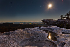 Moon Light Landscape - Full Moon Reflections on McAfees Knob [EXPLORED] photo by curtisWarwick