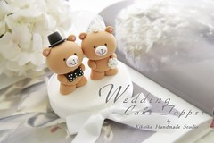 Wedding Cake Topper-love bear photo by charles fukuyama