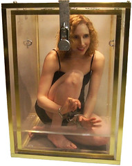 Dayle Krall in the Double Water Cell Escape photo by Dayle Krall:Most Accomplished Female Escape Artist