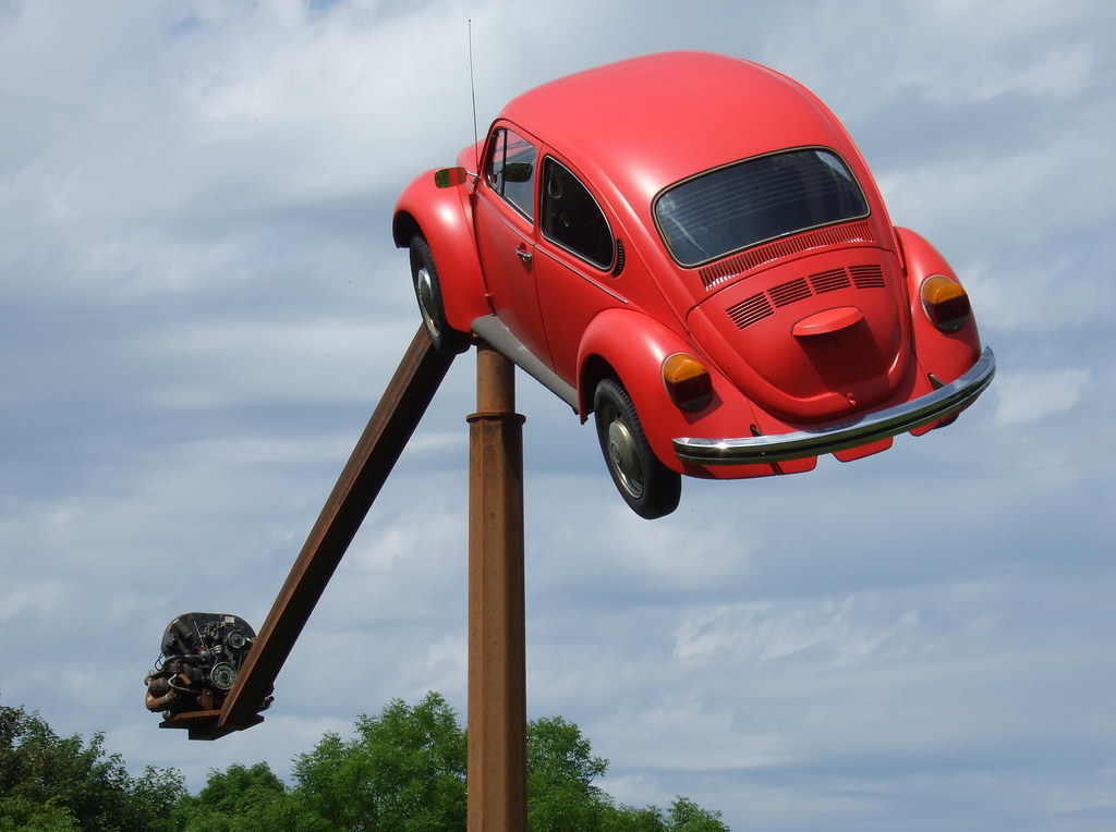 Flying VW Beetle