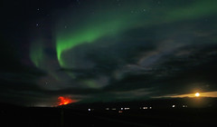Trip III to Fljótshlíð - Northern lights photo by Helgi Arnar