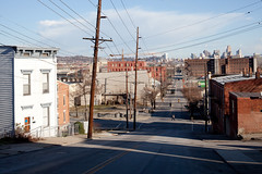 Lower Price Hill to Downtown Cincinnati, Man Walking photo by metroblossom