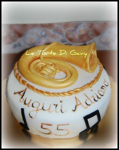 Tuba Birthday Cake