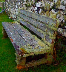 Bench, Trumpan, Isle of Skye, Scotland. photo by Bearded iris.