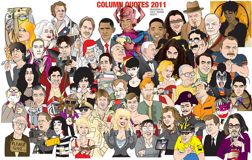 2011 Column Quote Caricatures