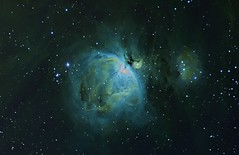Nebulosities around M42; 12H of narrow band photo by Trois_Merlettes