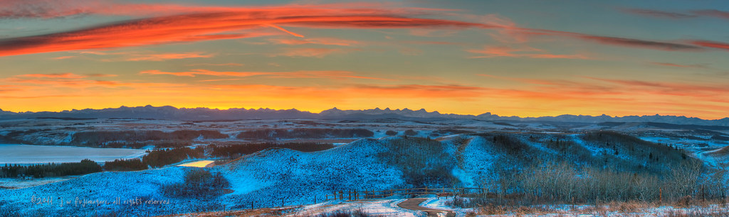 Sunset At The Glenbow Ranch