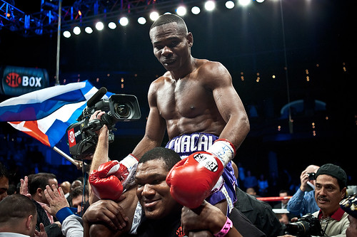 Guillermo Rigondeaux after the win vs. Rico Ramos 20JAN2012 Las Vegas - Palms Casino