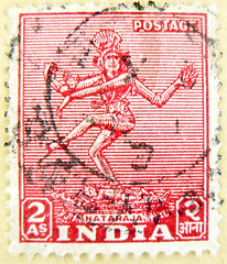 great stamp India 2 As Shiva Nataraja नटराज (Lord of Cosmic Dance - Tāṇḍava) postage टिकटों भारत हाथी 邮票 印度 象 francobolli selo sello India 切手 スタンプ インドの 象 postzegel zegels India 우표 인도 코끼리 طوابع الهند فيل znaczki Indie марки Индия слон frimerker India photo by stampolina