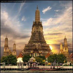 Wat Arun, Temple of the Dawn, Bangkok, Thailand :: HDR photo by :: Artie | Photography ::