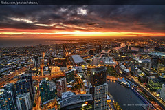 Melbourne Skyline Sunset photo by Christopher Chan