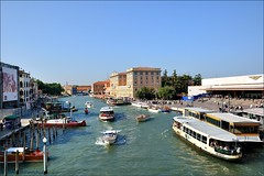 Venice : Grand Canal and Santa Lucia railway station  ( degli Scalzi ) photo by Pantchoa