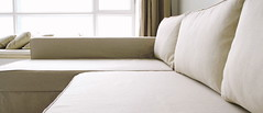 IKEA Manstad Sofa Bed Custom Linen Slipcover - Comfort Works photo by Comfort Works