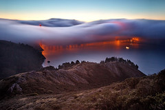 The Golden Gate Bridge - Sideway Fog photo by Andrew Louie Photography