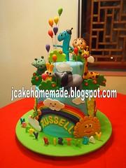 Baby TV birthday cake photo by Jcakehomemade