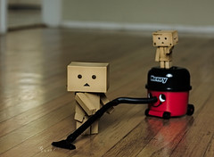 Never let it be said that a Danbo doesn't know how to earn his keep! photo by .•۫◦۪°•OhSoBoHo•۫◦۪°•