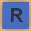 Foam brick letter R