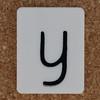 Tile Letter y