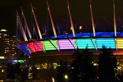 "BC Place Light Show for ""Illuminate Yaletown 2012"" photo by TOTORORO.RORO"