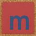 Cardboard blue letter m