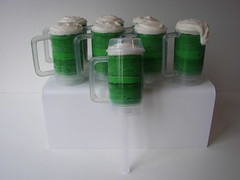 Green Beer Mug Cupcake Push Pops photo by death by cupcake