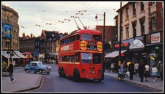 Wimbledon Town hall early 1960's LT L3 1381 Trolleybus photo by Ledlon89