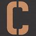 Stencil Letter C