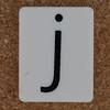 Tile Letter j
