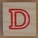 Wooden Brick Letter D
