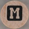 studio g Stamp Set Reverse Letter M