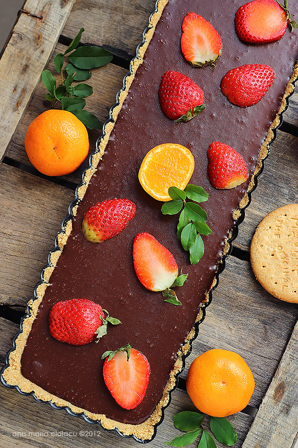 No-bake chocolate strawberry tart 2
