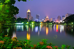Bangkok at night,Lumphini Park photo by Le Velo Indigo