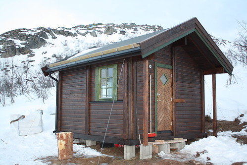 Ny åpen hytte på Hinnøya Foto: Arild Bondestad
