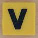 Spelling Bricks letter yellow V