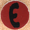 Cardboard Letter E