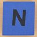Foam brick letter N
