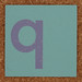 Cardboard letter q