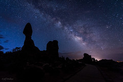 Milky Way Over Balanced Rock [Explored] photo by WherezJeff