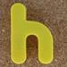Magnetic letter h