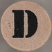 studio g Stamp Set Stencil Letter D