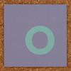 Cardboard green letter o