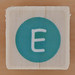 Rubber Stamp Letter E