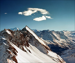 "Alpine peaks - Courmayeur (Italy) - Please view on black (press ""L"") photo by Katarina 2353"