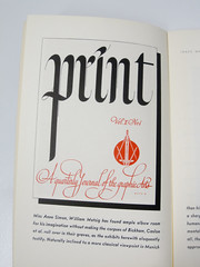 Lettering for Print magazine by William Metzig. May-June 1941 issue. photo by Herb Lubalin Study Center
