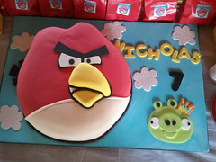 Angry Birds Cake photo by Mighty Fine Cakes