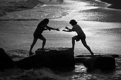 hand-to-hand combat, coney island style photo by Barry Yanowitz